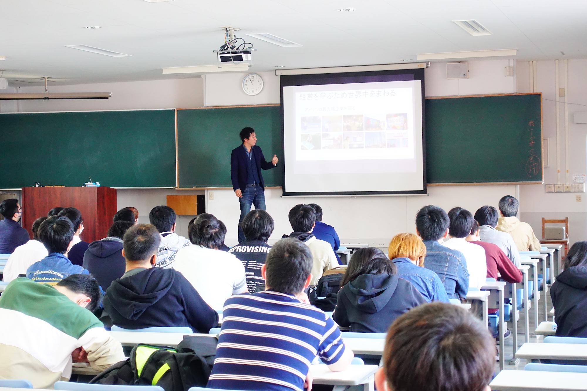 長崎総合科学大学でイグアス中村あきらが講演