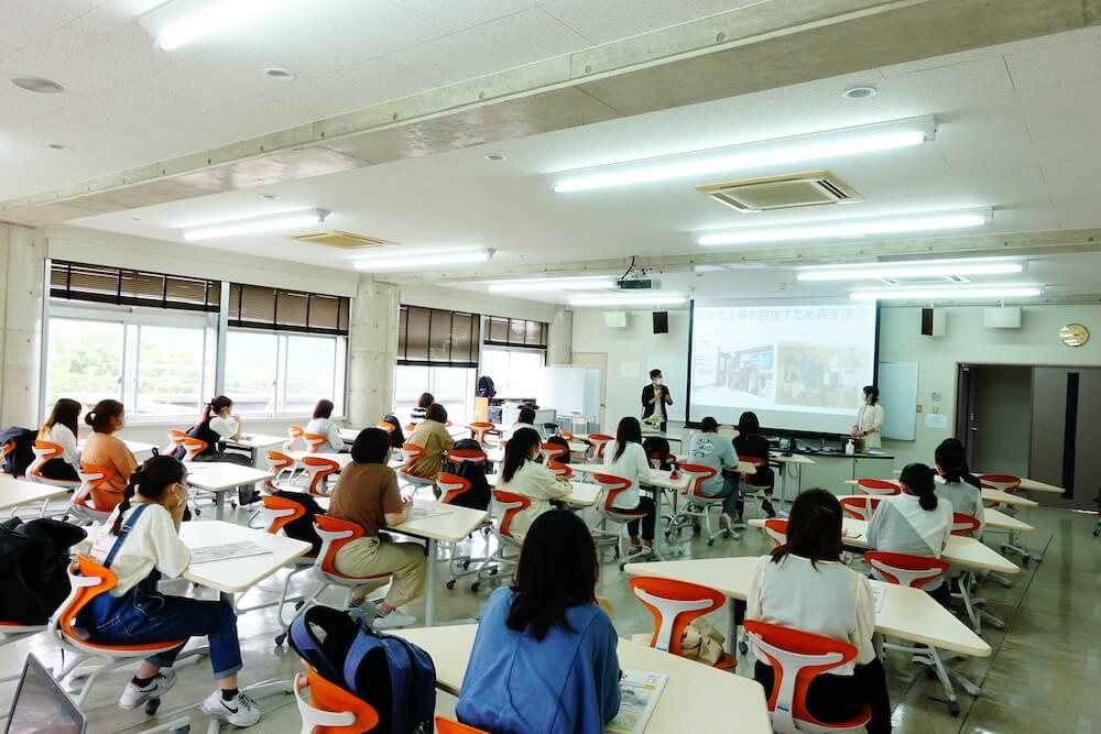 弊社が提供している長崎女子短期大学の授業「parcy's for School」にて代表の中村あきらが講演を行いました。